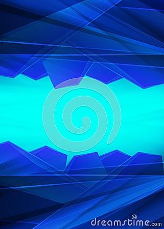 Modern Crystal blue prism background