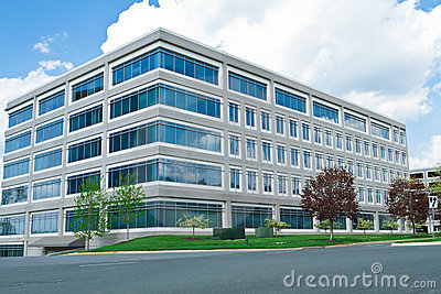 Modern Cube Shaped Office Building Parking Lot MD
