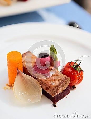 Modern cuisine dish
