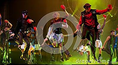 Modern dance show : Evening Banquet Editorial Photography