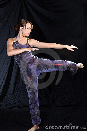 Modern dancer in standing pose