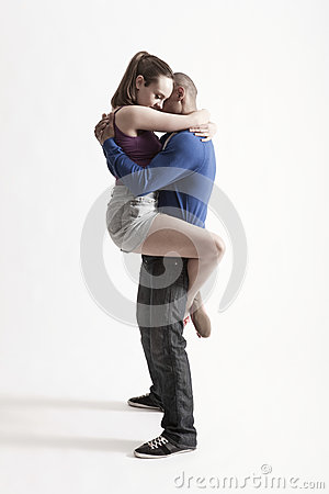 Modern Dancers Embracing