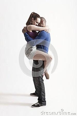 Modern Dancers Embracing