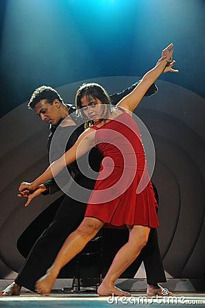Modern dancing Editorial Image