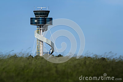 Modern design airport control tower