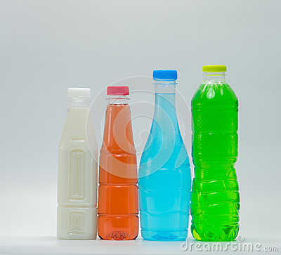 Free Modern Design Bottles Of Soft Drink And Soy Milk Royalty Free Stock Photos - 96720868