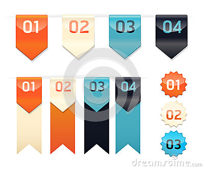 Modern Design button / can be used for infographics / numbered b