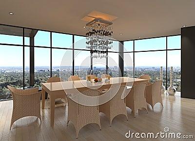 Modern Design Dining Room   Living Room Interior