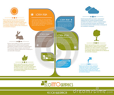 Modern design Ecology business template.