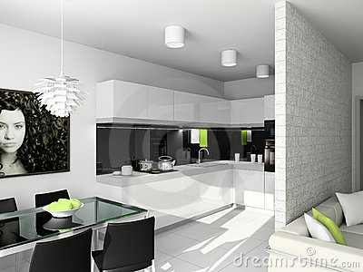 Modern design of interior