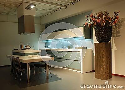 Modern design Kitchen green-white