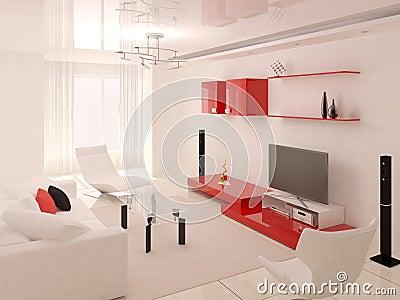 The Modern Design Of The Living Room Stock Illustration