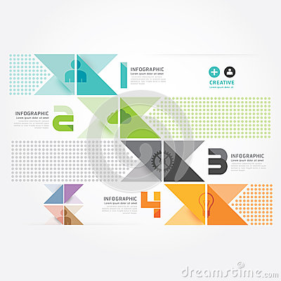 Free Modern Design Minimal Style Info Graphic Template. Royalty Free Stock Images - 39927859