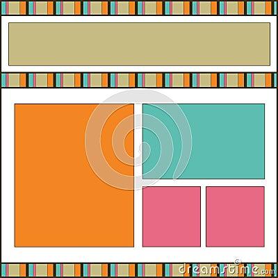 Modern design scrapbook page