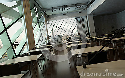 Modern Design University Interior Conference Room Stock