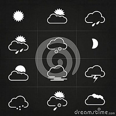 Modern Clean Weather Symbols