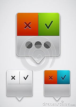 Modern dialog box icon