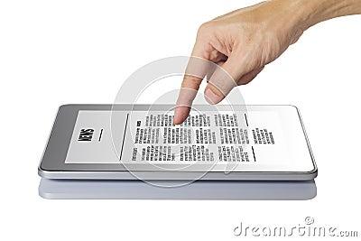 Modern digital tablet pc.