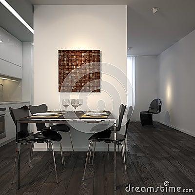 Modern dining corner