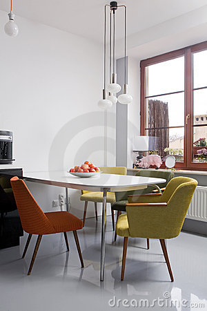 Free Modern Dining Room Stock Photography - 9354062