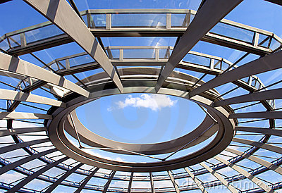 Modern dome of Reichstag (Germany s parliament)