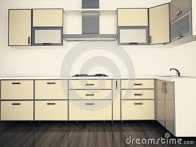 Modern domestic Kitchen, stylish interior design