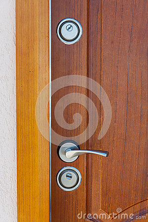 Modern door handle and lock