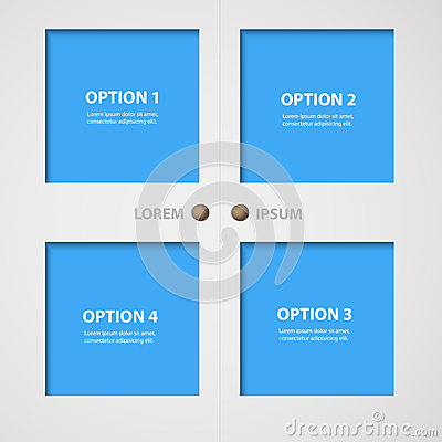 Free Modern Doors And Windows And Infographic Text Box Layout Royalty Free Stock Photos - 71636368