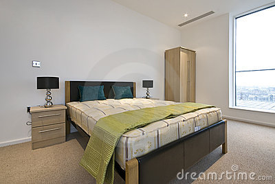 Modern double bedroom with king size bed