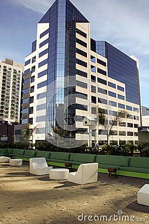 Modern downtown San Diego building