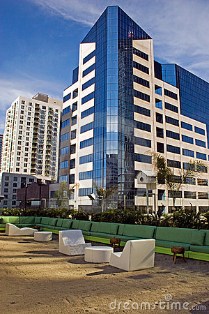 Modern downtown San Diego office building