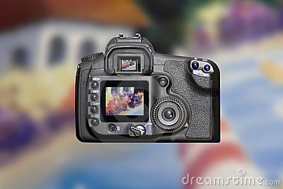 Modern DSLR Digital Camera