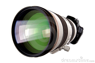 Modern dslr digital camera with big lens
