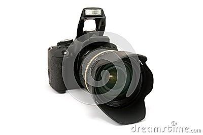 Modern dslr photo camera