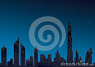 Modern Dubai view