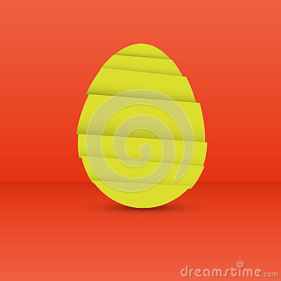Modern easter egg graphic element