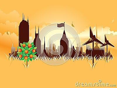 Modern ecological metropolis