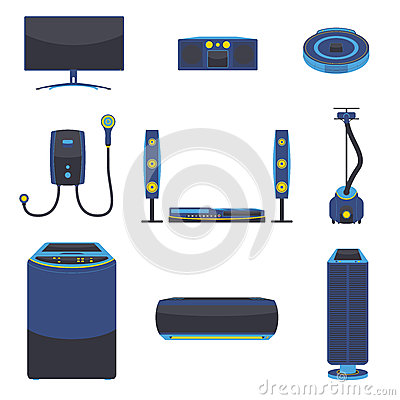 Modern Electric Home Appliance Vector Stock Vector Image