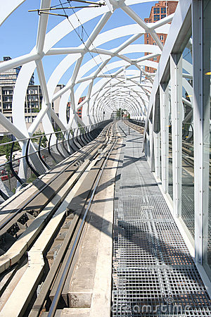 Modern Elevated Tram Railway