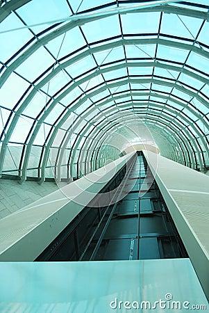 Modern elevator s tunnel