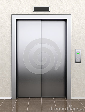Free Modern Elevator With Closed Doors Stock Photo - 37344580