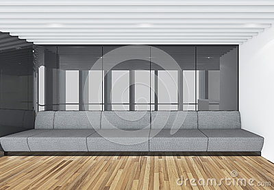 Modern Empty Room, 3d render interior design, mock up illustrati Cartoon Illustration