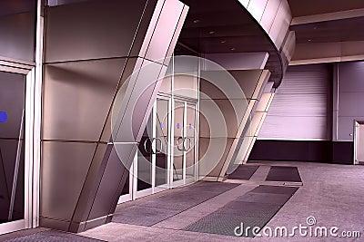 Modern architecture entrance