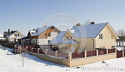 Modern European mass rural building