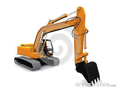 Modern excavator