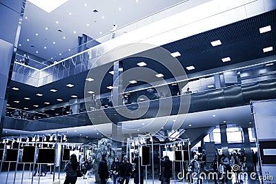 Modern exhibition center