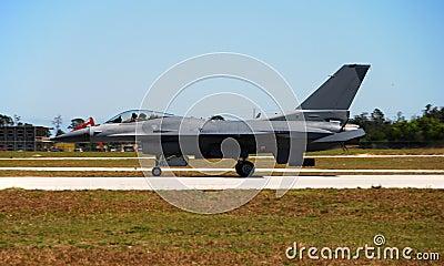 Modern F-16 fighter jet