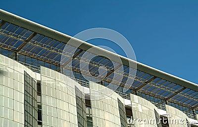 Modern facade of ecological building