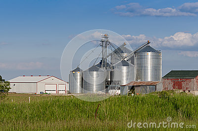 modern farm silo royalty free stock photo image 31587115. Black Bedroom Furniture Sets. Home Design Ideas