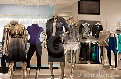 Modern fashion retail store